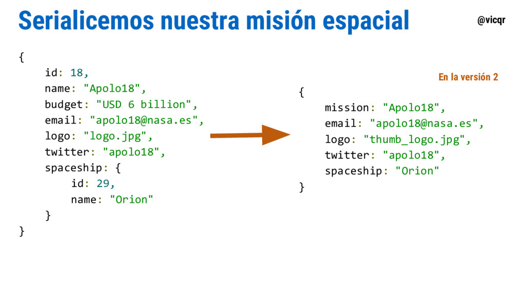 @vicqr Serialicemos nuestra misión espacial { i...