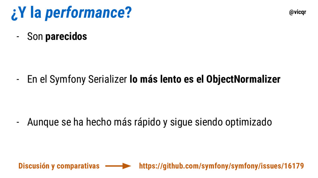 @vicqr ¿Y la performance? - Son parecidos - En ...