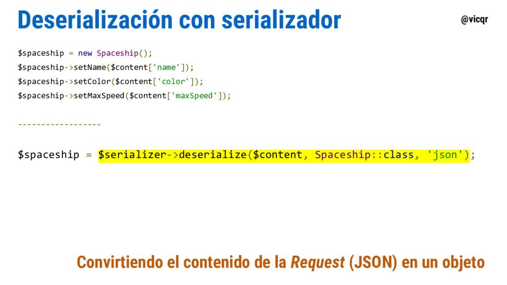 @vicqr Deserialización con serializador $spaces...