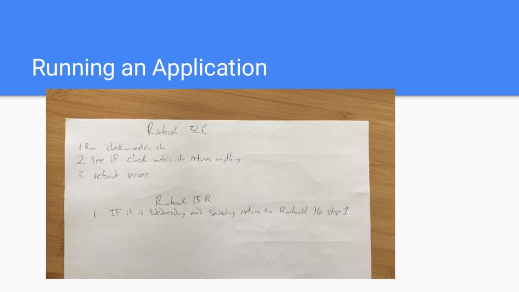 Running an Application