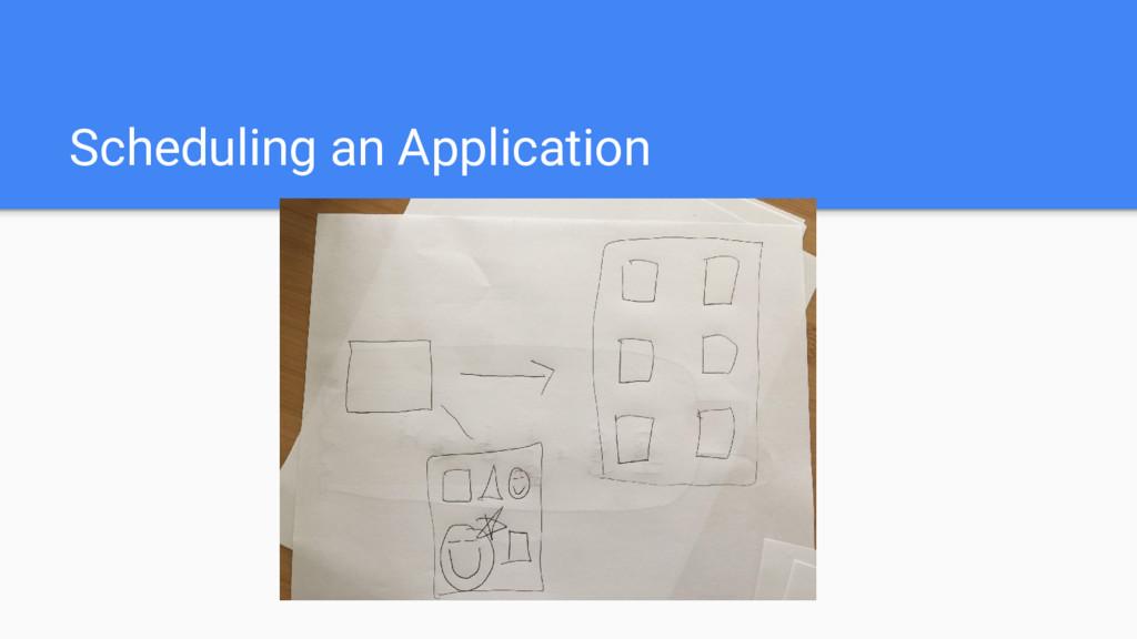 Scheduling an Application
