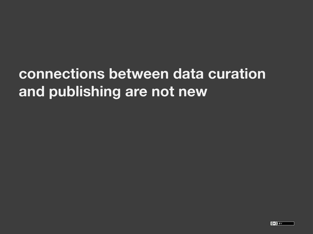 connections between data curation and publishin...