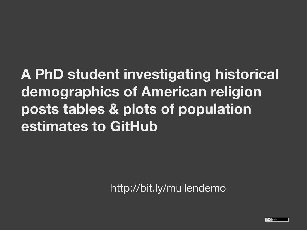 A PhD student investigating historical demograp...