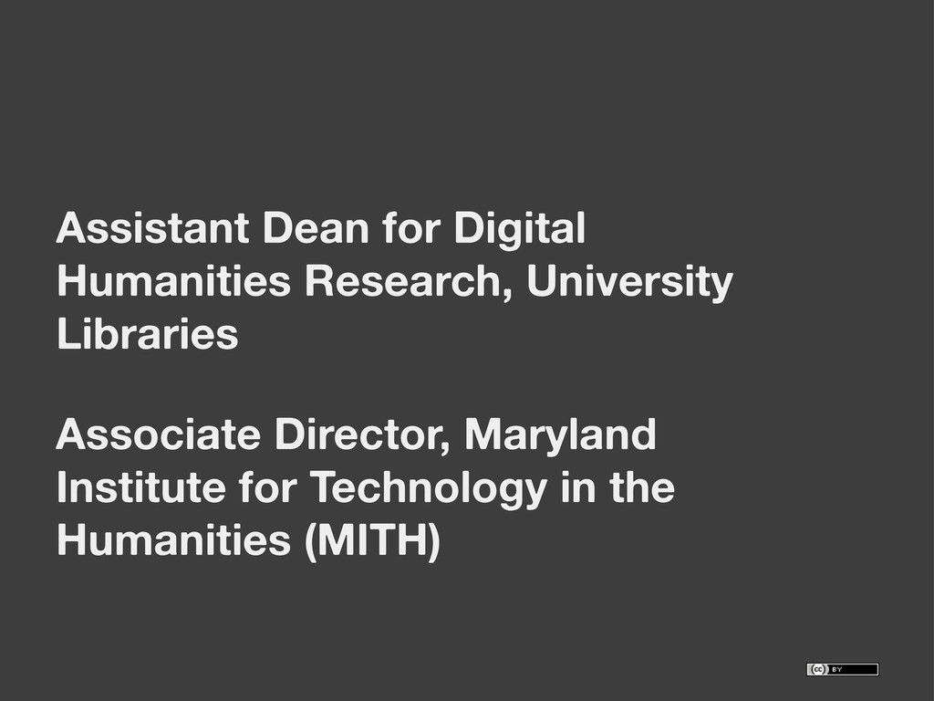 Assistant Dean for Digital Humanities Research,...