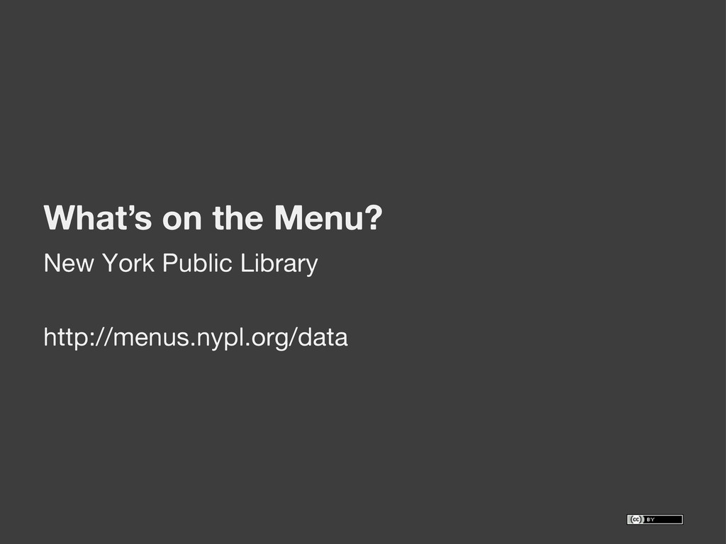 What's on the Menu? New York Public Library htt...