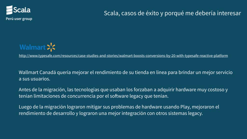 Perú user group Scala, casos de éxito y porqué ...