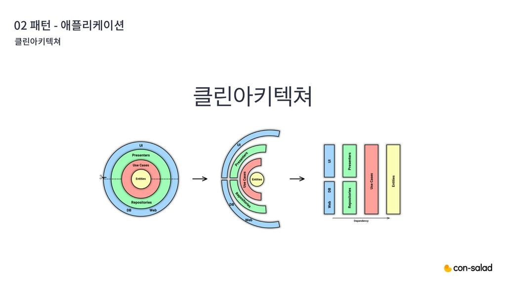 02 패턴 - 애플리케이션 ܽইఃఫ 클린아키텍쳐