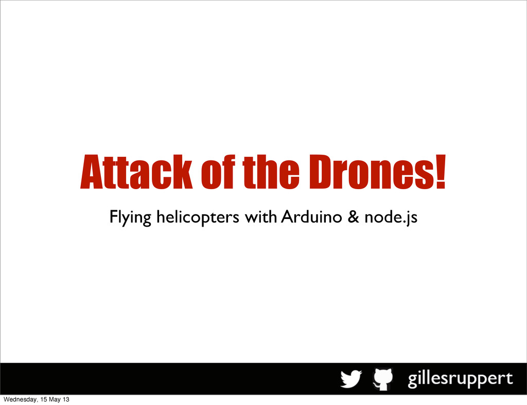 Attack of the Drones! Flying helicopters with A...