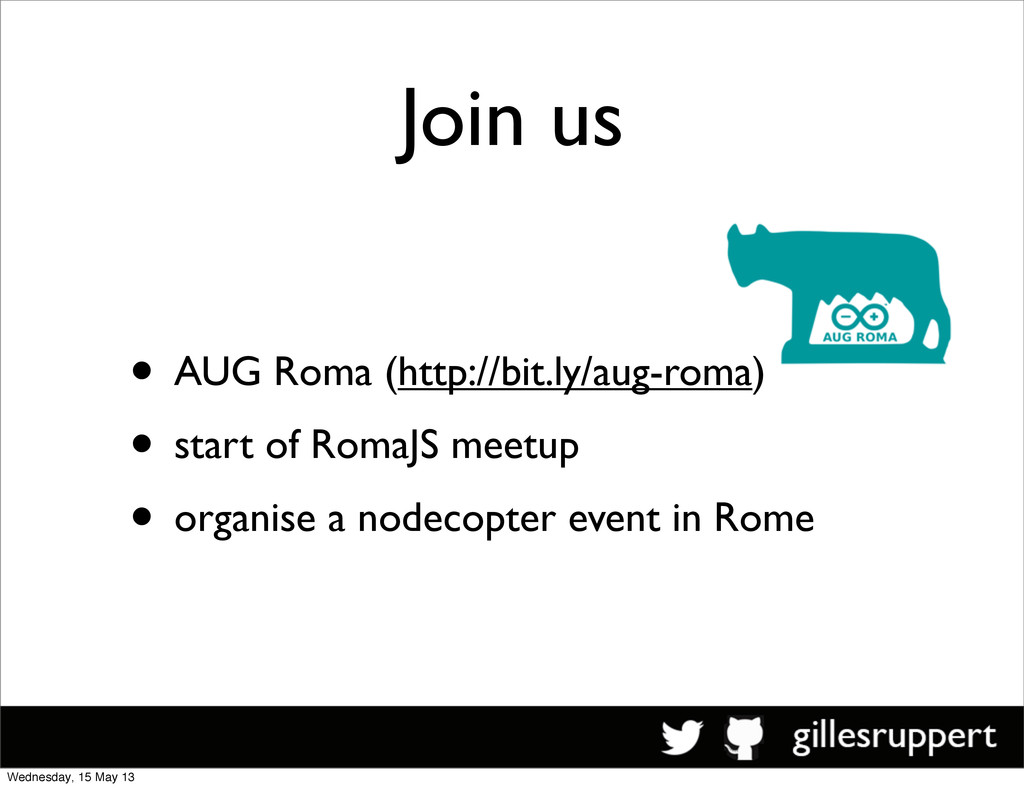 Join us • AUG Roma (http://bit.ly/aug-roma) • s...
