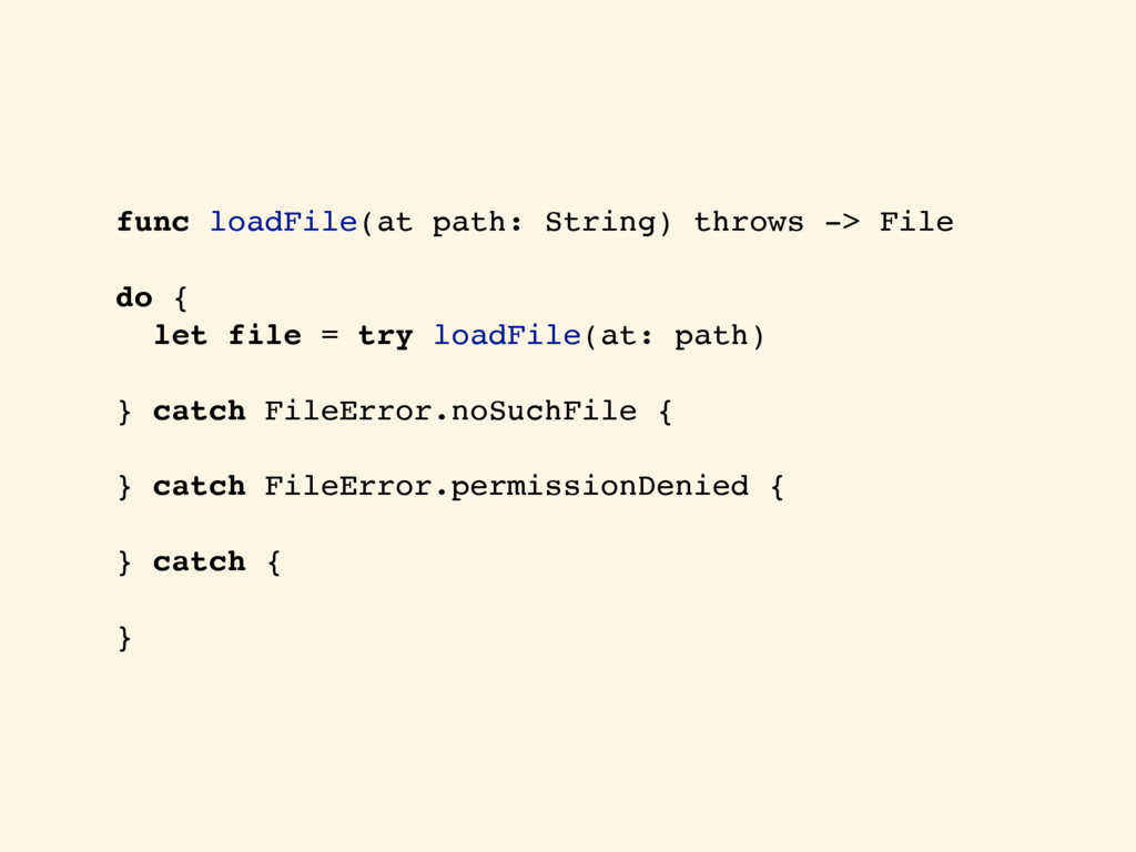 func loadFile(at path: String) throws -> File d...