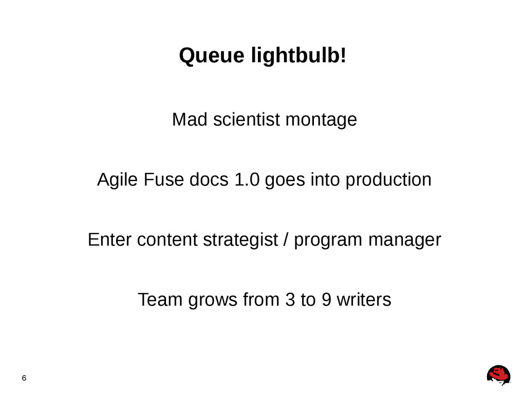 6 Queue lightbulb! Mad scientist montage Agile ...