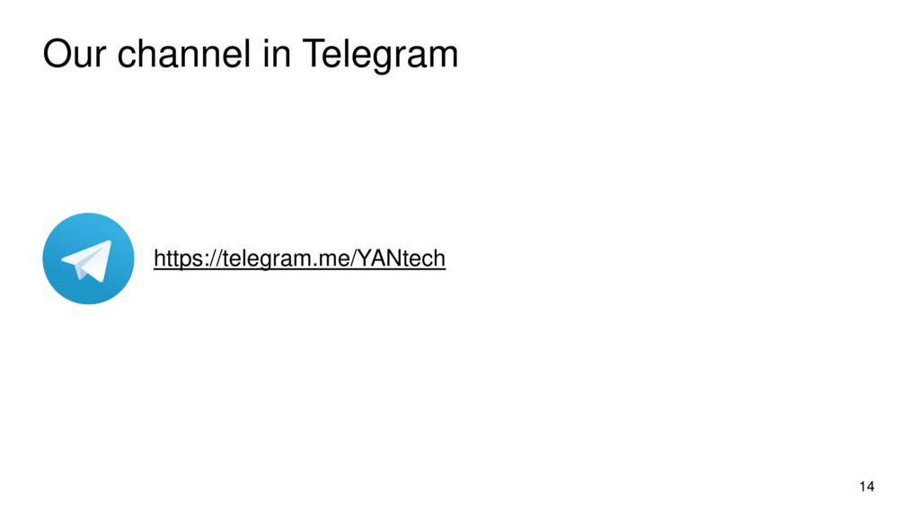 Our channel in Telegram 14 https://telegram.me/...