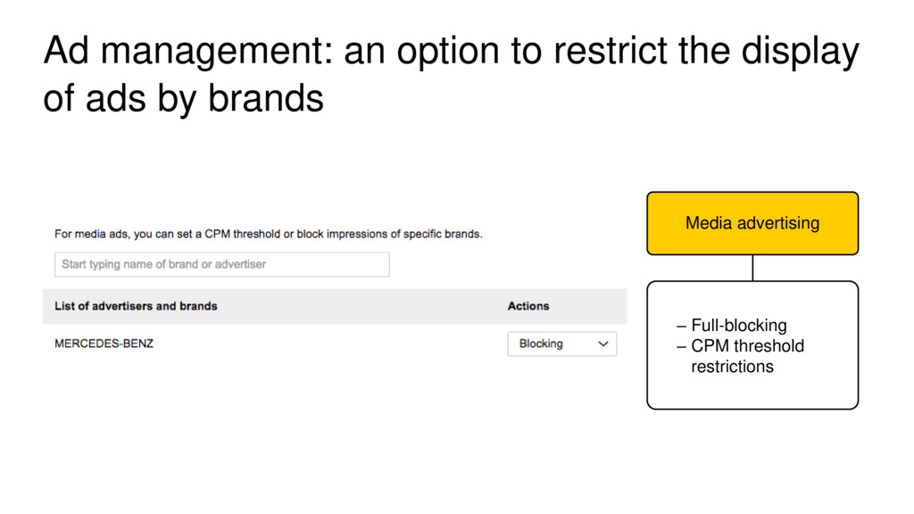 Ad management: an option to restrict the displa...