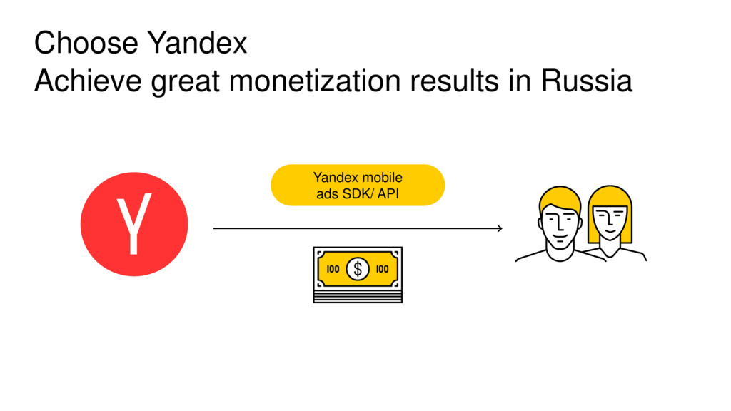 Choose Yandex Achieve great monetization result...