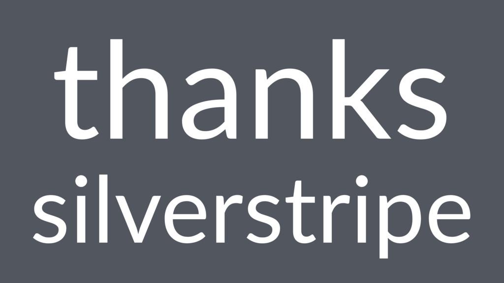thanks silverstripe