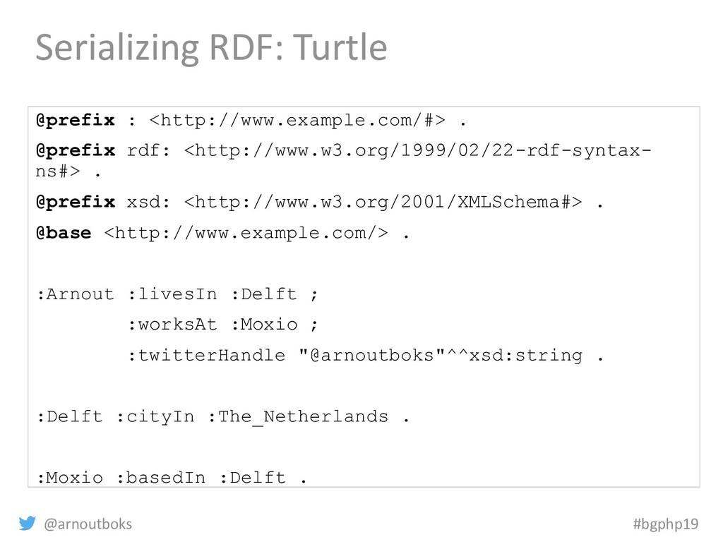 @arnoutboks #bgphp19 Serializing RDF: Turtle @p...