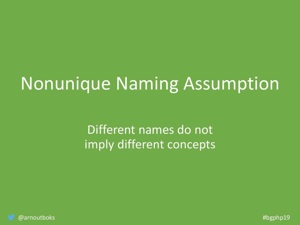 @arnoutboks #bgphp19 Nonunique Naming Assumptio...