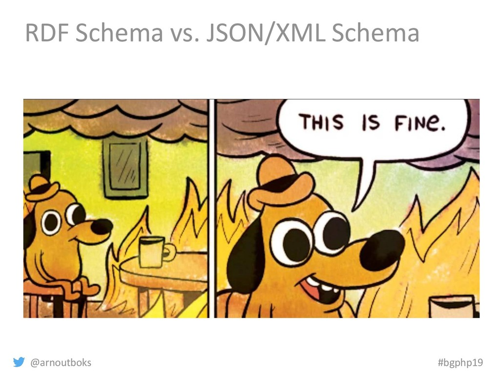 @arnoutboks #bgphp19 RDF Schema vs. JSON/XML Sc...