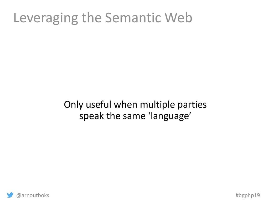 @arnoutboks #bgphp19 Leveraging the Semantic We...