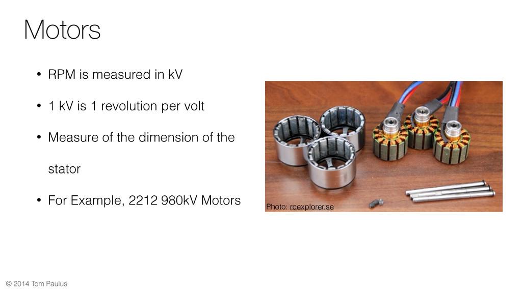 © 2014 Tom Paulus Motors • RPM is measured in k...