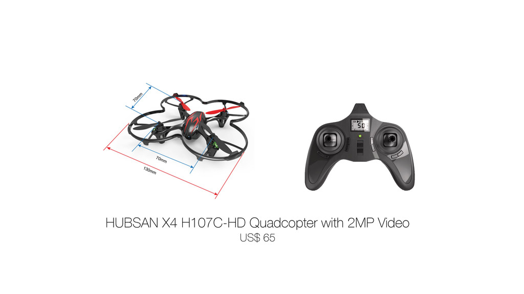 HUBSAN X4 H107C-HD Quadcopter with 2MP Video
