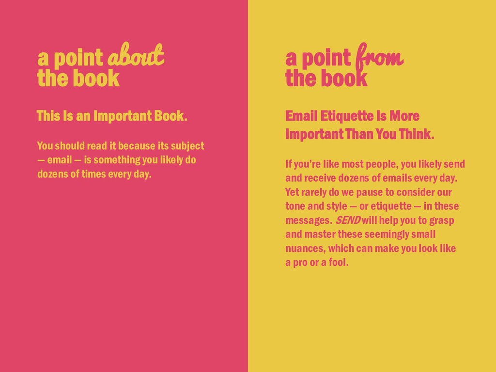 a point from the book Email Etiquette Is More I...