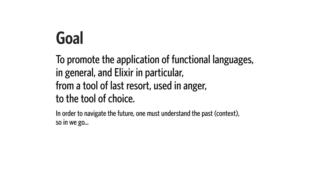 Goal To promote the application of functional l...