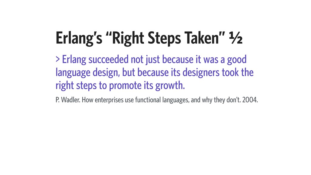 "Erlang's ""Right Steps Taken"" A⁄b > Erlang succe..."