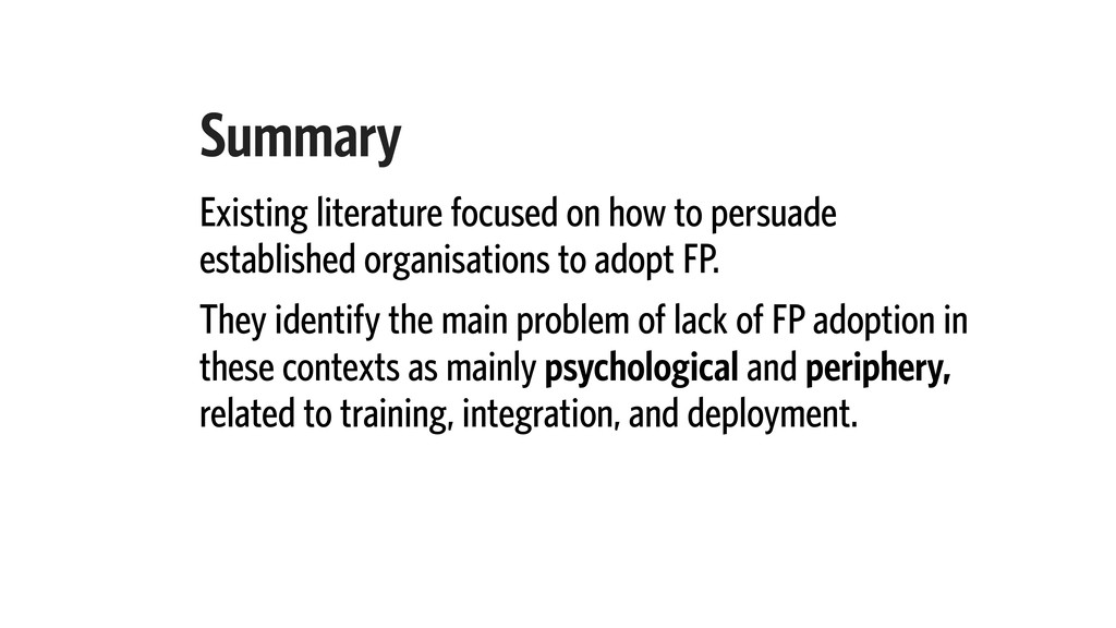 Summary Existing literature focused on how to p...