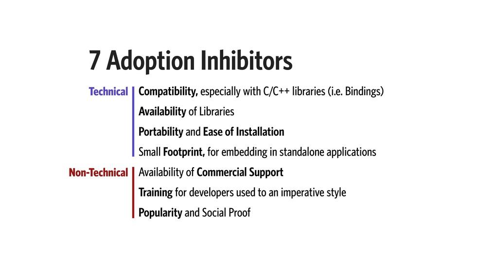 7 Adoption Inhibitors Technical Non-Technical C...