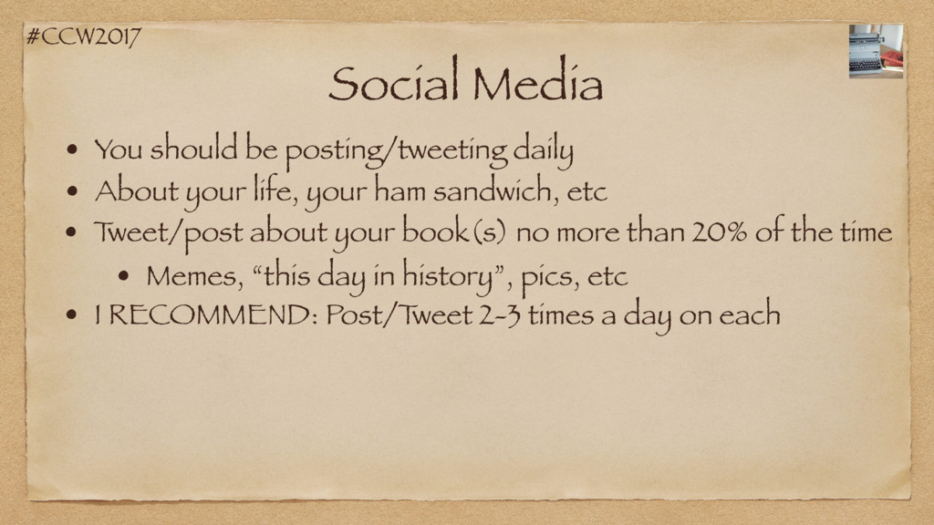 #CCW2017 Social Media • You should be posting/t...