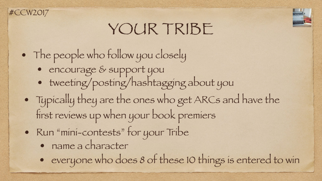 #CCW2017 YOUR TRIBE • The people who follow you...
