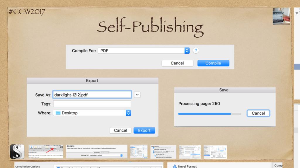 #CCW2017 Self-Publishing