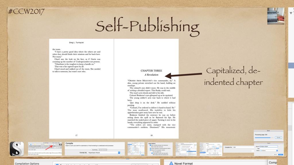 #CCW2017 Self-Publishing Capitalized, de- inden...