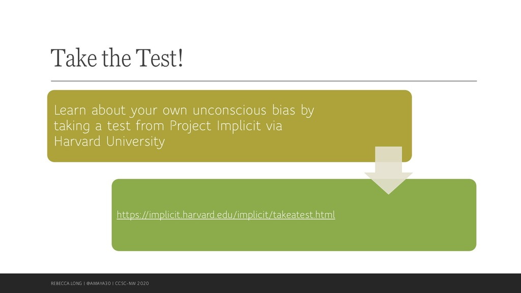 Take the Test! Learn about your own unconscious...