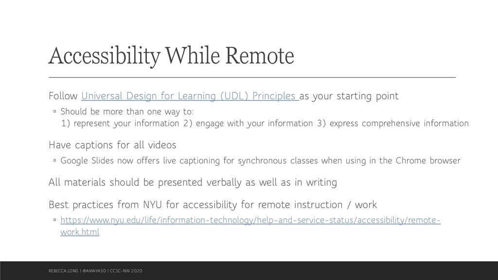 Accessibility While Remote Follow Universal Des...