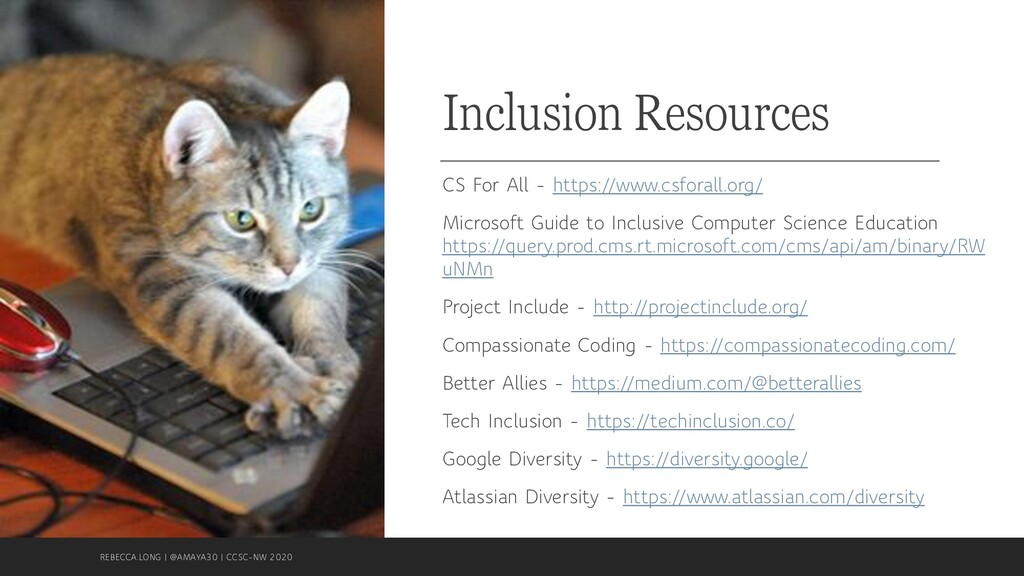 Inclusion Resources CS For All - https://www.cs...