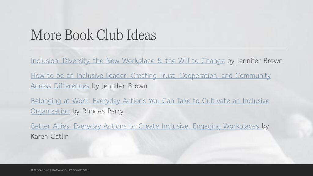 More Book Club Ideas Inclusion: Diversity, the ...