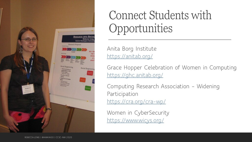 Connect Students with Opportunities Anita Borg ...