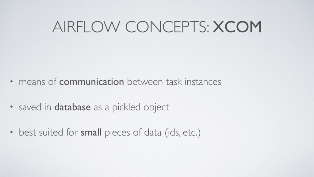 AIRFLOW CONCEPTS: XCOM • means of communication...