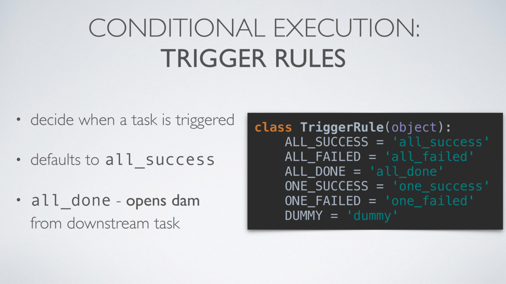 CONDITIONAL EXECUTION: 