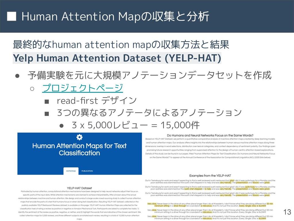 Human Attention Mapの収集と分析 13 最終的なhuman attentio...