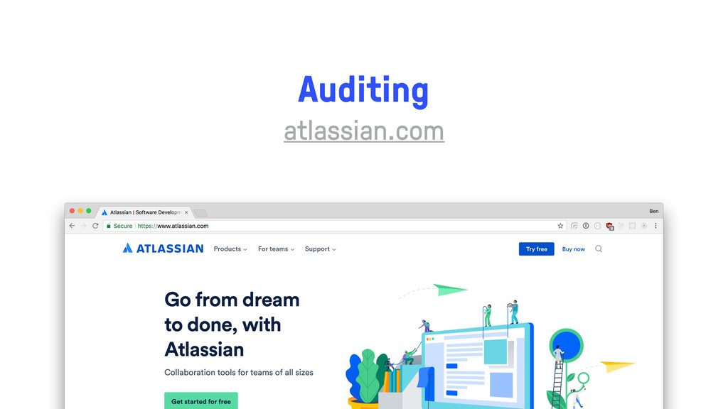 Auditing atlassian.com
