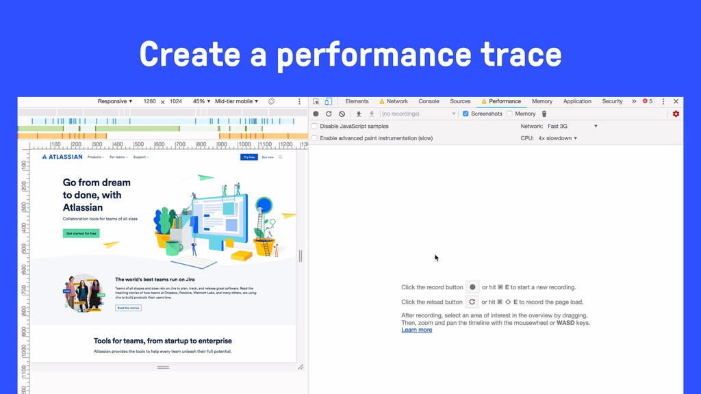 Create a performance trace