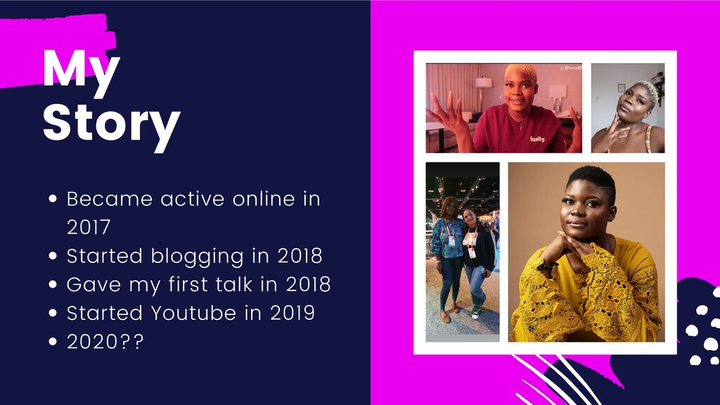 Became active online in 2017 Started blogging i...