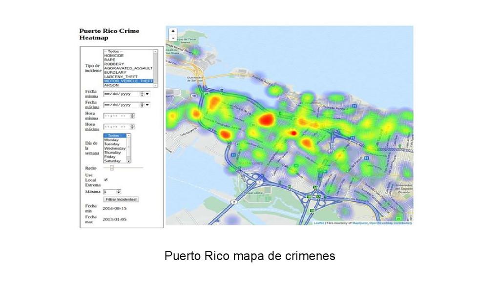 Puerto Rico mapa de crimenes