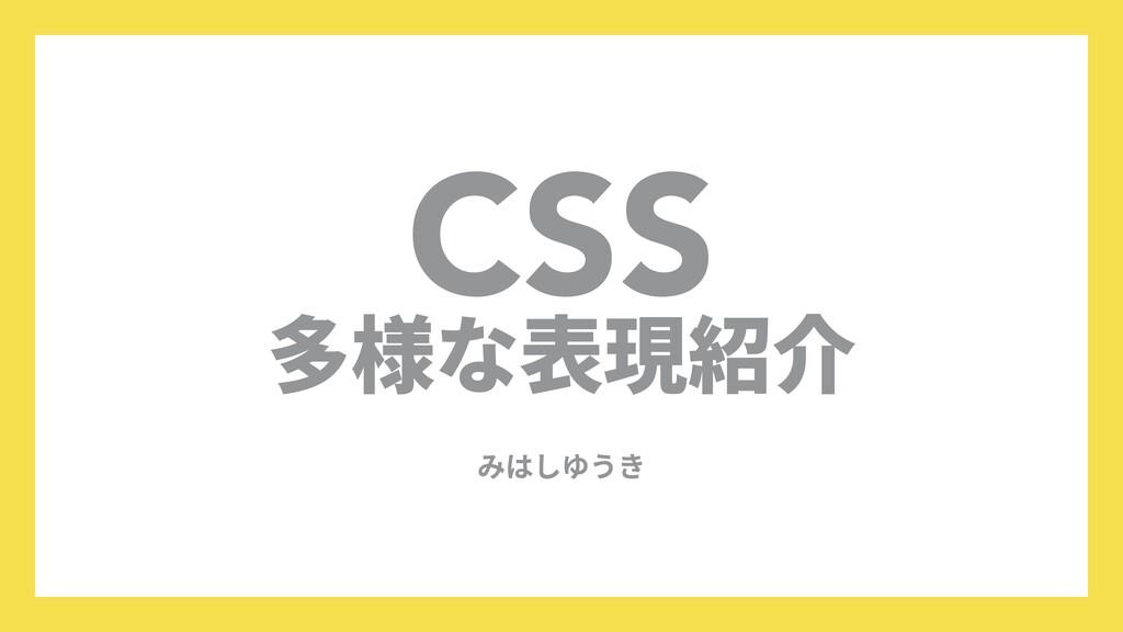 CSS  多様な表現紹介 みはしゆうき