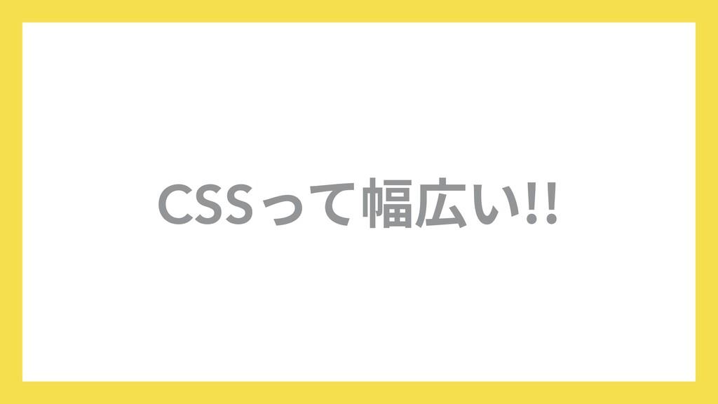 CSSって幅広い!!