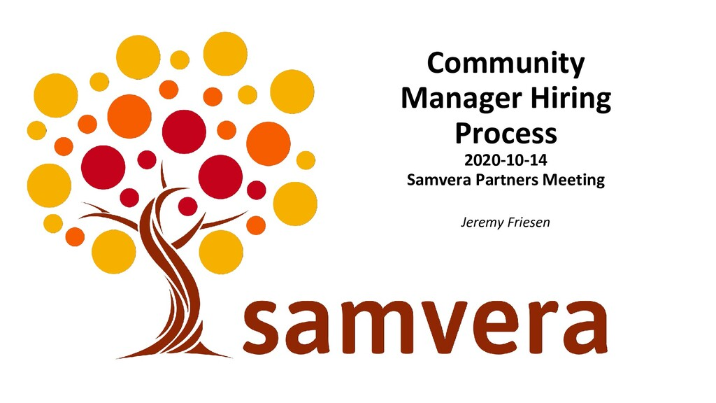 Community Manager Hiring Process 2020-10-14 Sam...