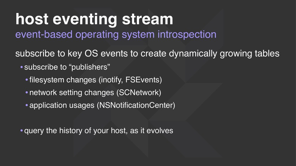 event-based operating system introspection host...